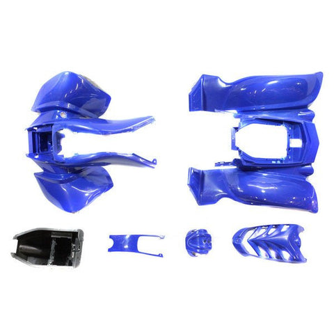 Chinese ATV Front Rear Fender Set for VX - 6 piece - Blue