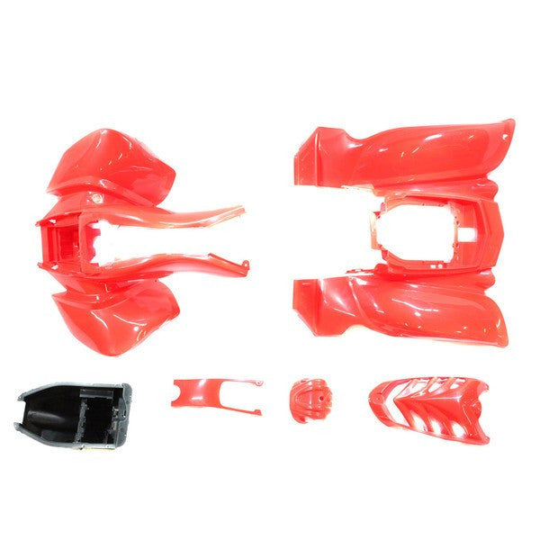 Chinese ATV Front Rear Fender Set for VX - 6 piece - Red - VMC Chinese Parts