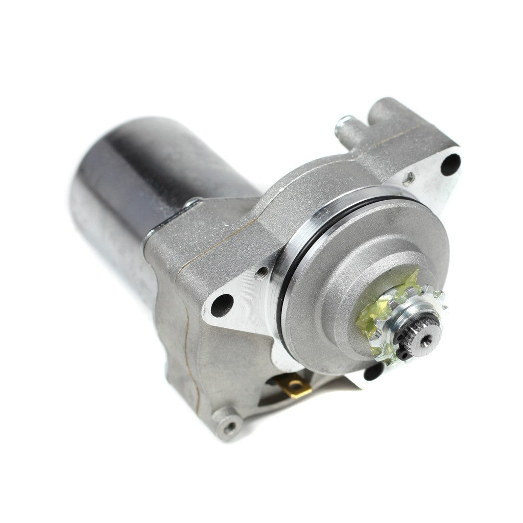 This Chinese 3-bolt starter is the replacement part for many 4-stroke Chinese ATVs, Dirt Bikes, Go Karts and Scooters. This starter fits 50cc, 70cc, 90cc, 100cc, 110cc, and 125cc models. This version will NOT fit the Kazuma Meerkat. Starter description: Top Mount 3-bolt 12 tooth Overall length: 14.8cm [5.82