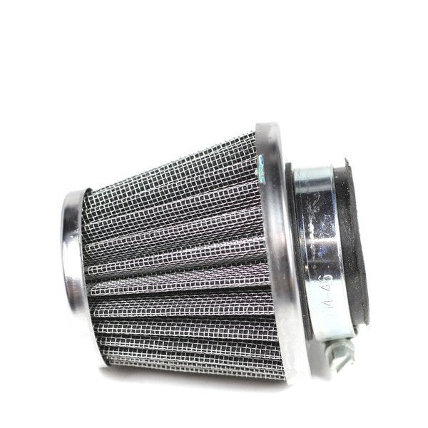 This air filter fits many Chinese 4-stroke ATVs, dirt bikes, go karts, mopeds, and scooters. This filter fits many 125cc to 200cc engines. Air filter description: 39mm [1.54