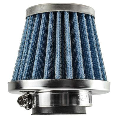 Air Filter - 42mm ID - BLUE - 50cc-125cc - Version 4402
