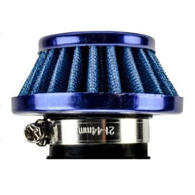 Air Filter - 35mm ID - BLUE - 50cc-110cc - Version 3502