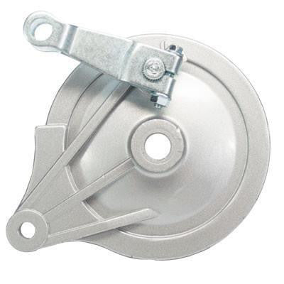 Brake Assy - Drum with Backing Plate & Shoes for Coleman 196cc Mini Bikes - Version 200