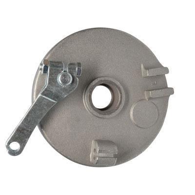 "Brake Assy - LEFT - 4"" Drum with Backing Plate & Shoes - Version 05L - VMC Chinese Parts"