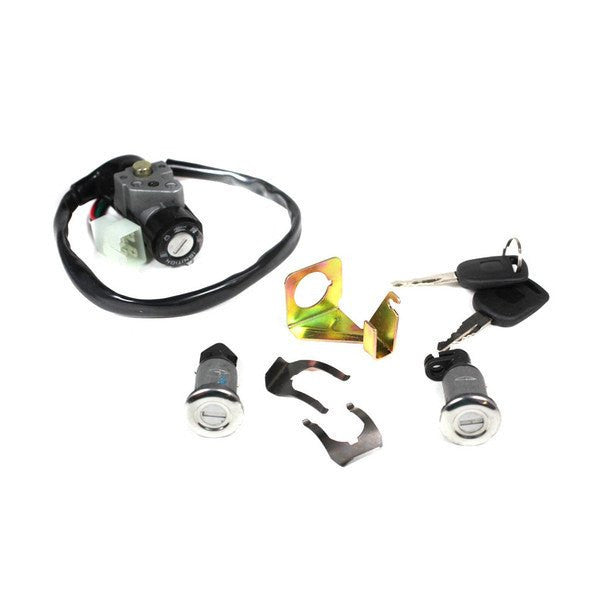 4-Wire Chinese Ignition Key Switch Set for GY6 50cc - 150cc Scooters and Mopeds - Version 24 - VMC Chinese Parts