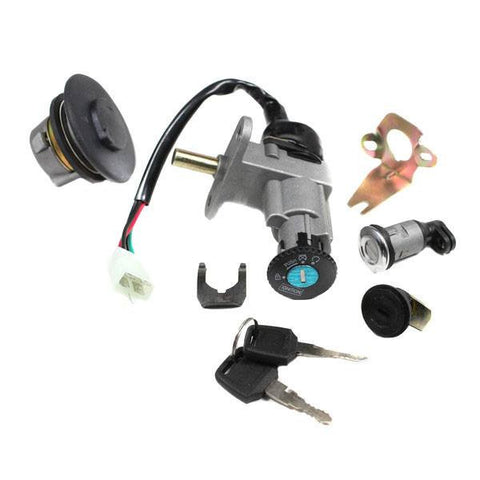chinese ignition key switch set for gy6 50cc scooter vmc. Black Bedroom Furniture Sets. Home Design Ideas