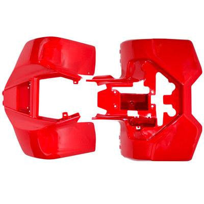 Chinese Kazuma Dingo Lacoste Panda ATV Front Rear Fender Kit Red - VMC Chinese Parts