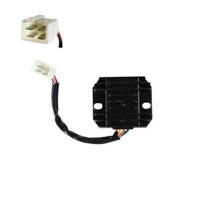 4-Wire / 1-Plug Voltage Regulator Rectifier for GY6 125cc 150cc Dirt Bikes Scooters ATVs - Version 39 - VMC Chinese Parts