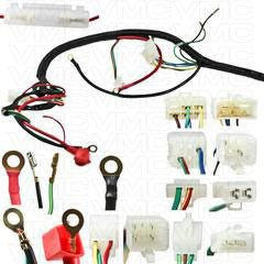 complete electrical atv wiring harness 200cc 250cc. Black Bedroom Furniture Sets. Home Design Ideas