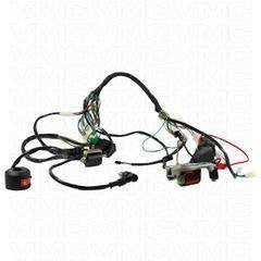 complete electrical atv wiring harness 50cc 125cc. Black Bedroom Furniture Sets. Home Design Ideas