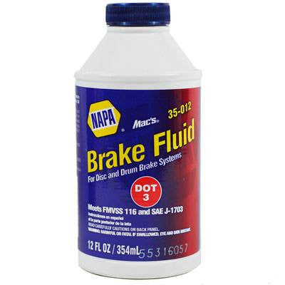 NAPA Mac's DOT 3 Brake Fluid 12 oz. Bottle