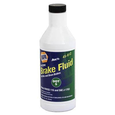 NAPA Mac's DOT 5 Silicone Brake Fluid 12 oz. Bottle