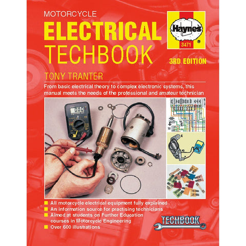 Haynes Motorcycle Electrical Manual - 3471 - Chinese Japanese Electrical Techbook