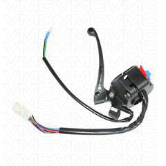 Chinese Handlebar Starter Switch -10 Wire - Scooter Moped LH Version 56 with Brake Lever - VMC Chinese Parts