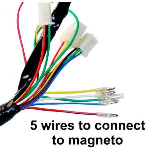 wiring diagram 125cc avt complete electrical atv wiring harness 50cc 125cc  complete electrical atv wiring harness