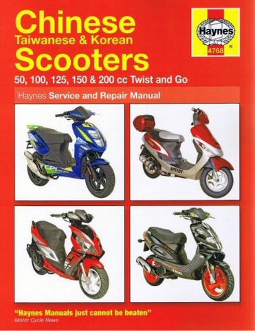 Haynes Scooter Manual - 4768 - Chinese Taiwanese & Korean - 50cc - 200cc