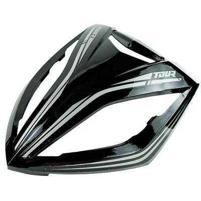 Face Panel / Headlight Housing Panel for Taotao Quantum 150 Scooter -Black with Silver