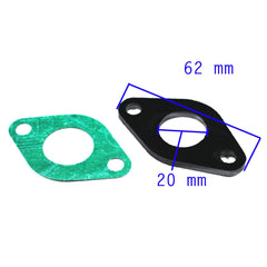 Carburetor Intake Manifold Gasket for 50cc to 125cc Engine - VMC Chinese Parts