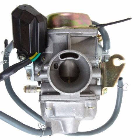 Carburetor - PD24J - Electric Choke - 24mm with Rubber Drain Line - GY6 125cc 150cc - Version 6
