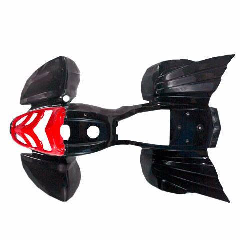 Body Fender Kit for Chinese ATV - Kazuma Mini Falcon - BLACK