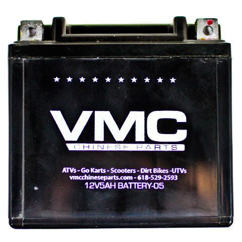 Battery 5Ah 12 Volt - VMC Chinese Parts