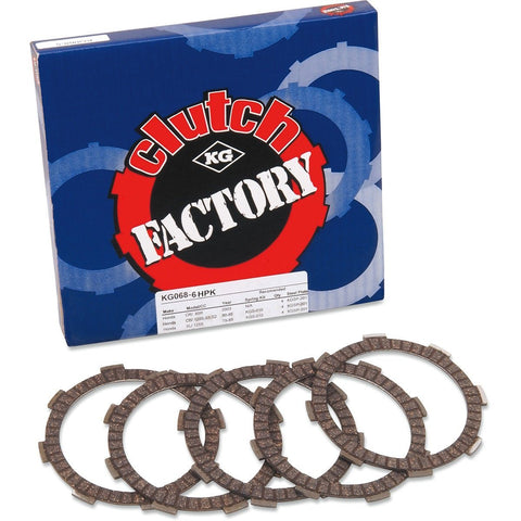 KG Clutch Factory - High Performance Clutch 6 Disc Plate Set - 100cc - 250cc - [KG068-6HPK]