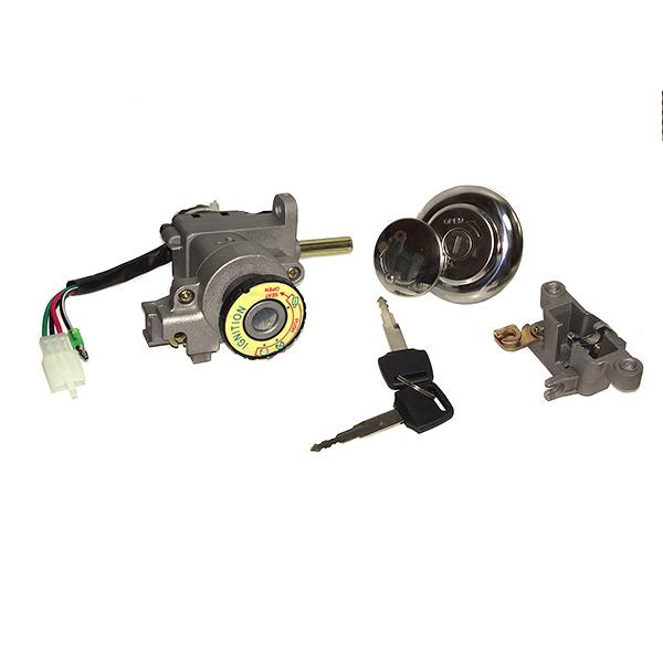 4-Wire Chinese Ignition Key Switch Set for GY6 50cc 125cc 150cc 250cc Scooters - Version 45 - VMC Chinese Parts