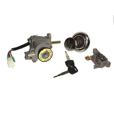 Ignition Key Switch - 4 Wire - GY6 50cc 125cc 150cc 250cc Scooters - Version 45