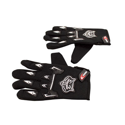 Knighthood Full Fingered Riding Gloves - Black