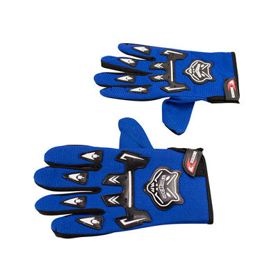 Knighthood Full Fingered Riding Gloves - Blue