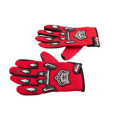 Knighthood Full Fingered Riding Gloves - Red