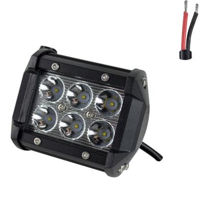 Off Road ATV UTV Go-Kart Light 18 Watt CREE 6 LED Lamp 4