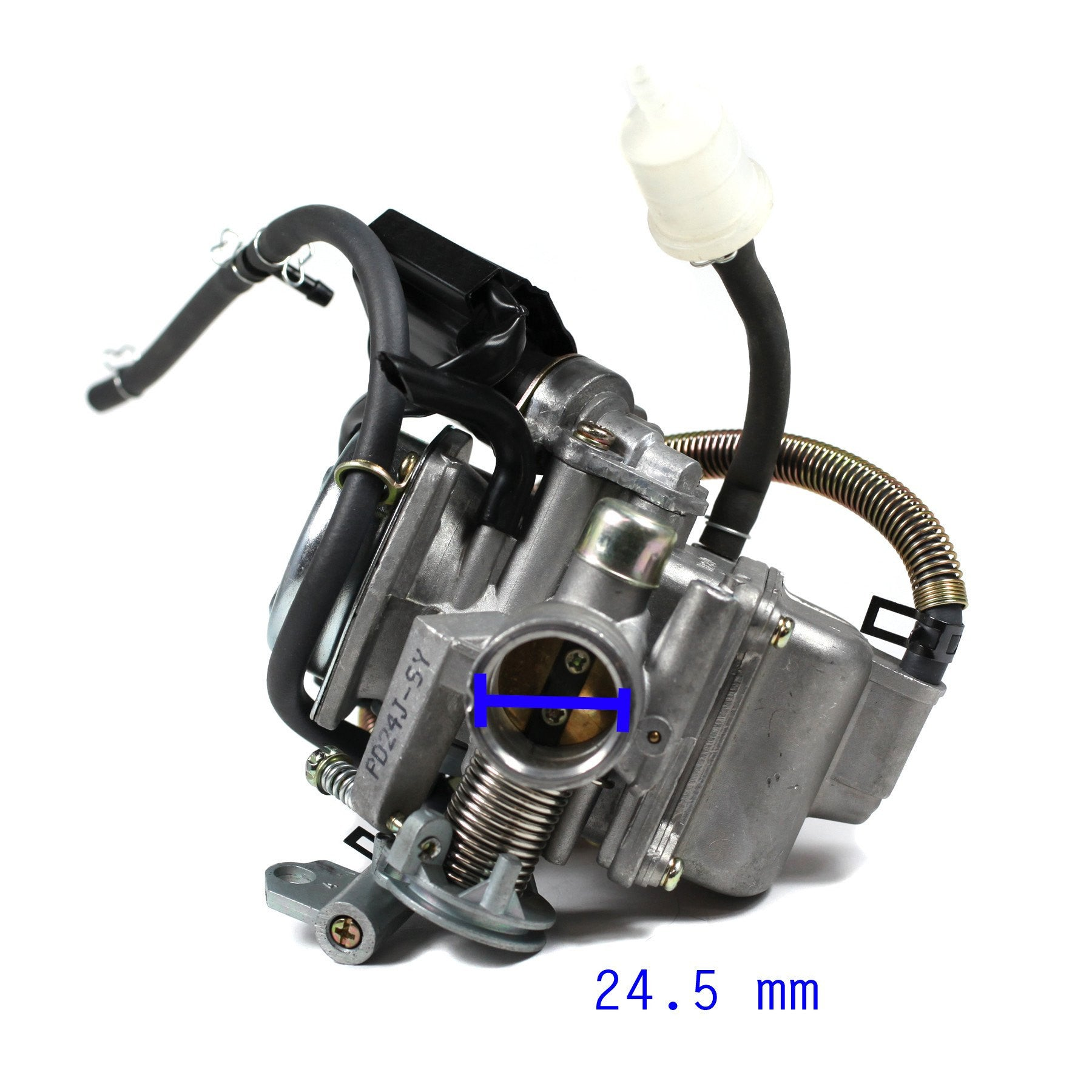 Carburetor PD24J - 24mm with Spring Drain Line - GY6 125cc