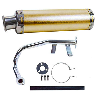 Exhaust System / Muffler for GY6 50cc Scooter - GOLD