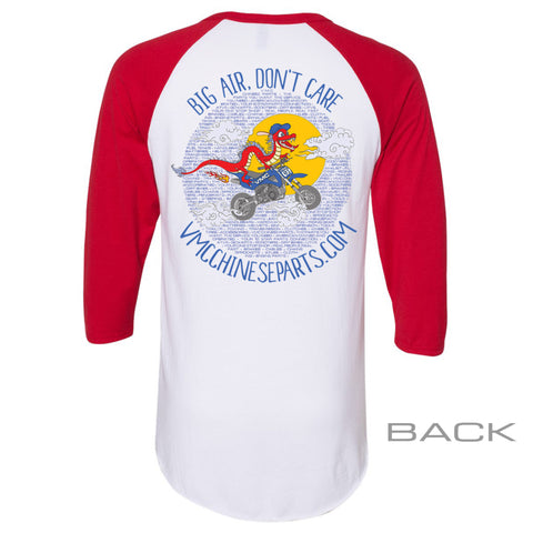 VMC Graphic Baseball Tee - Adult - White and Red
