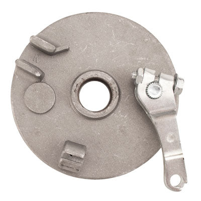 "Brake Assy - RIGHT - 4"" Drum with Backing Plate & Shoes with ""V"" Spring - Version 06R - VMC Chinese Parts"
