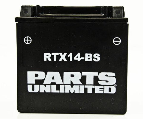 Parts Unlimited AGM Maintenance Free Battery - YTX14-BS - [RTX14-BS]