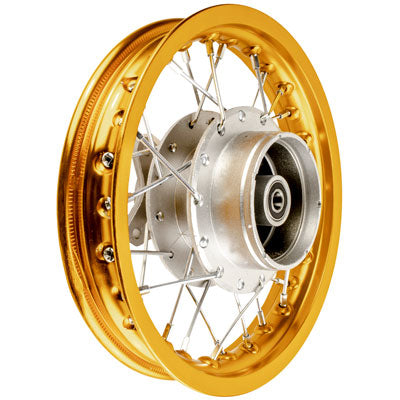 "Rim Wheel - Rear - 10"" x 1.4"" - 12mm ID - 28 Spokes - Honda XR50 CRF50 with Drum Brake - Version 1051 - VMC Chinese Parts"