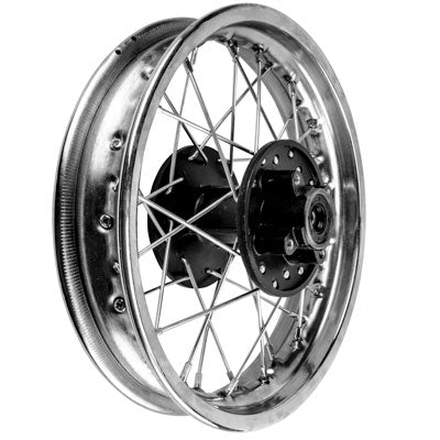 "Rim Wheel - Rear - 12"" x 1.85"" - 12mm ID - 32 Spokes - Chinese Dirt Bike - Version 1269 - VMC Chinese Parts"