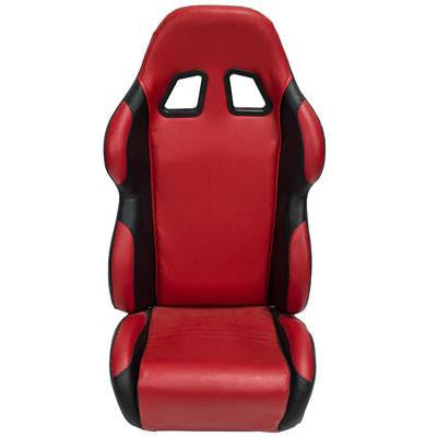 Seat for Go-Kart or Buggy RED BLACK - Version 5