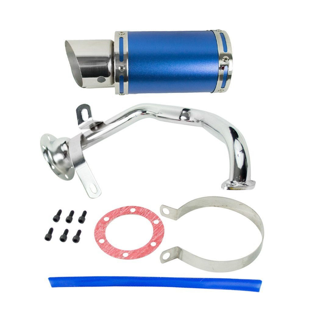 Exhaust System / Muffler for GY6 150cc Scooter - BLUE