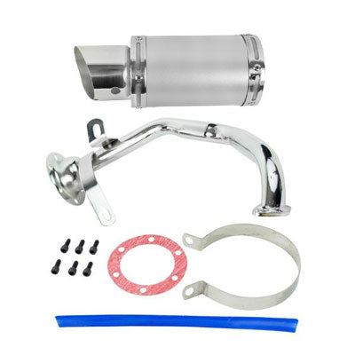 Exhaust System / Muffler for GY6 150cc Scooter - SILVER