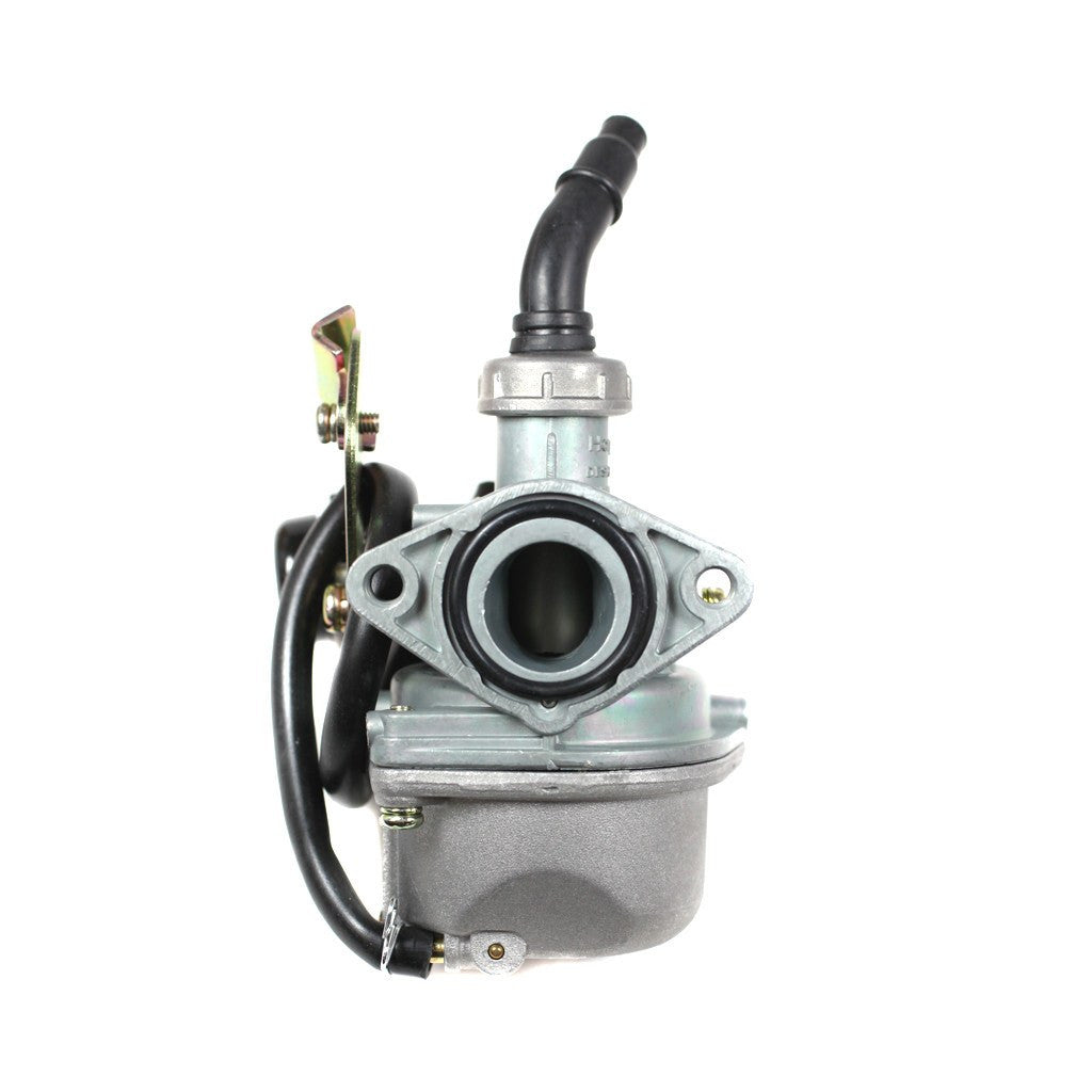 This Chinese PZ19 cable choke carburetor is the replacement part for many 4-stroke Chinese ATVs, Dirt Bikes, Go Karts and Scooters. This carburetor fits 50cc, 70cc, 90cc, 100cc, 110cc, and 125cc models. Carburetor description: PZ19 w/ cable choke Intake ID: 19mm Air filter mount ID: 33mm [1.30