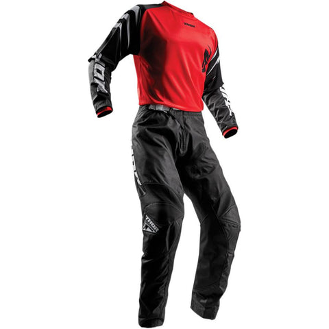 Thor Youth Sector Black Pants - Buy Pants - Get Red Jersey & Matching Gloves FREE