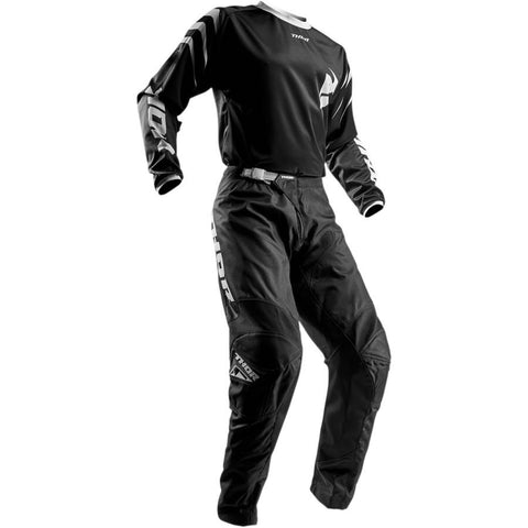 Thor Youth Sector Black Pants - Buy Pants - Get Black Jersey & Matching Riding Gloves FREE