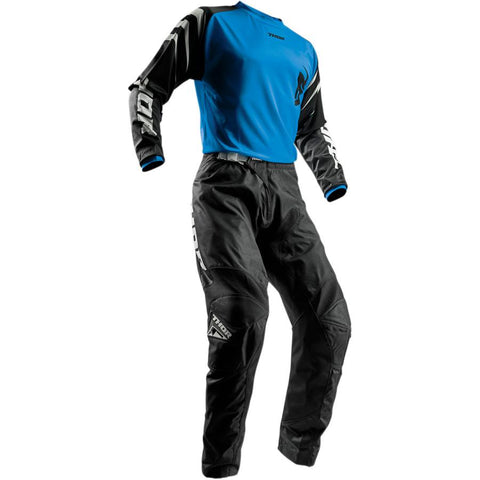 Thor Youth Sector Black Pants - Buy Pants - Get Blue Jersey & Matching Gloves FREE