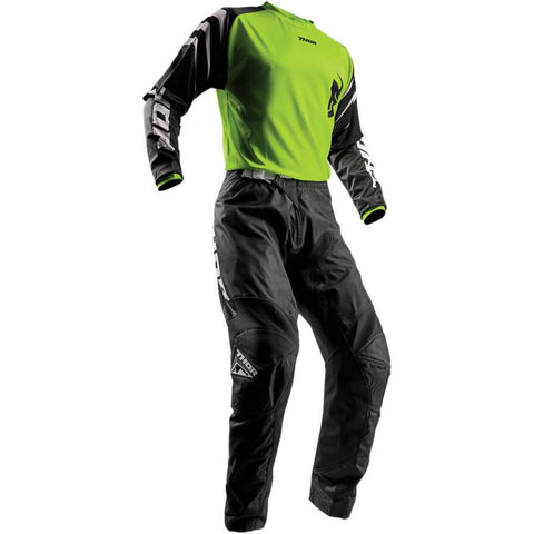 Thor Youth Sector Black Pants - Buy Pants - Get Lime Jersey & Matching Gloves FREE