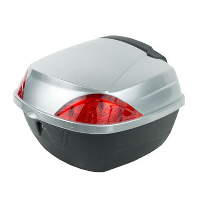 Trunk / Luggage Compartment - Small - for 50cc Scooters SILVER