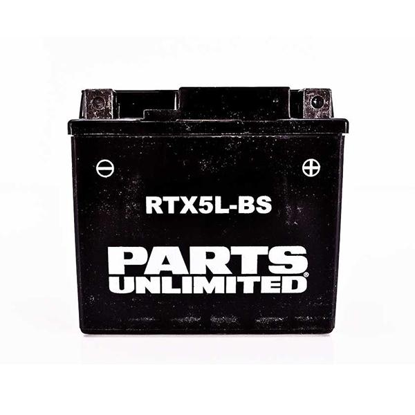 Battery 4Ah 12 Volt AGM Maintenance Free - [RTX5L-BS] Parts Unlimited - VMC Chinese Parts