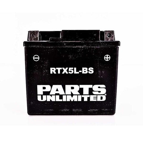 Parts Unlimited AGM Maintenance Free Battery - [RTX5L-BS]